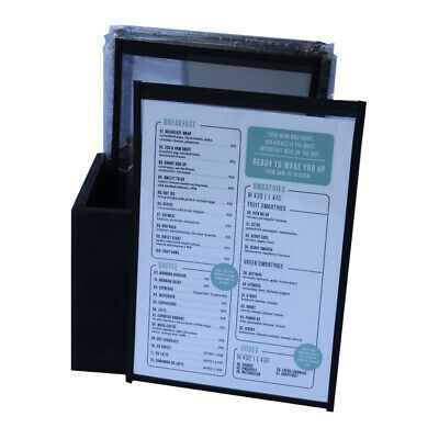 Pack 30  A4 CAFE MENU SINGLE POCKET + BONUS STORAGE BOX FREE FREIGHT