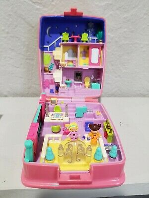 "1994 Bluebird Polly Pocket---""Star Bright Dinner Party"" Light---Pink Bow Compact"