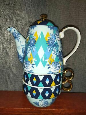 """*LAST CHANCE 4 POSTING this week*  T2 Tea for Two Set  """"Poppin Posies"""" NEW"""