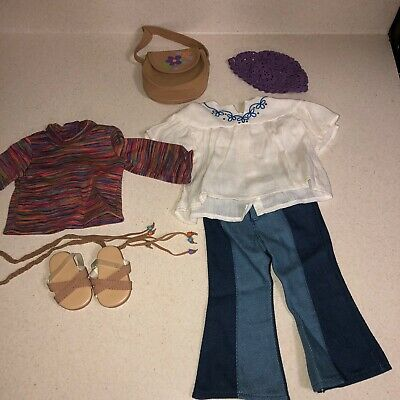 American Girl Doll Julie Albright Classic Meet Outfit Purse Complete Mint