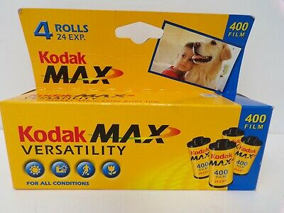 4 rolls New in sealed Box Kodak color 400 Max 24 exp 2005 film 35mm 352
