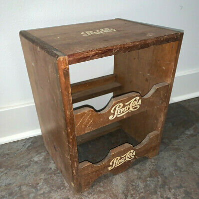 RARE Vintage PEPSI Wooden Bottle Retail Rack, Country Store Rustic