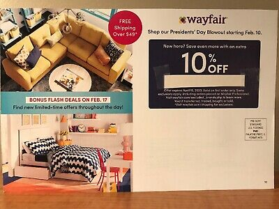 Wayfair 10% Off Coupon First Time Order Expires April 15, 2020