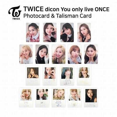 TWICE x dicon You Only Live ONCE Photocard Talisman Card Member Set KPOP K-POP
