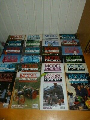 Selection Of 24 Vintage Model Engineer Magazines 1989 Vol 162 3839-3862