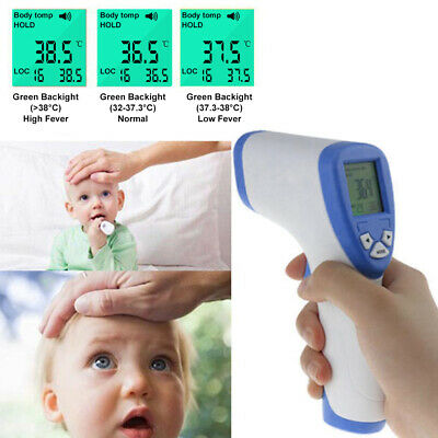 Digital IR Infrared Forehead Thermometer Baby Adult Fever Temperature Meter MJ