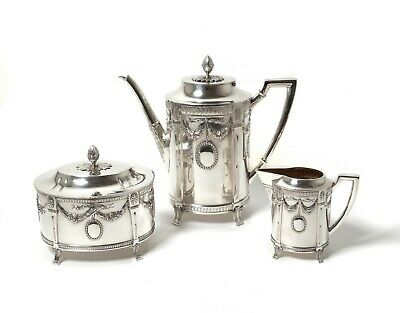Silver coffee set, 3 items.  Sweden, Stockholm, Anderson K, 1906.