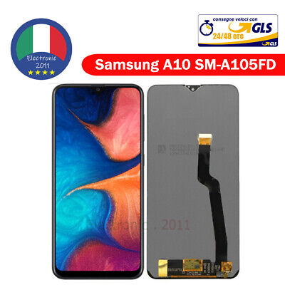 Display LCD + Touch Screen Senza Frame Amoled SAMSUNG A10 SM-A105FN VETRO NERO