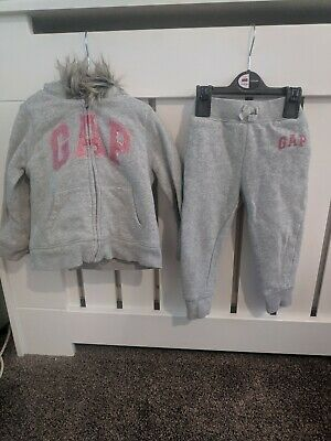 Girls hooded gap tracksuit 2 year old