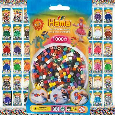 Hama Beads - The Complete Selection -  1000 Midi Bead Packs & Pegboards