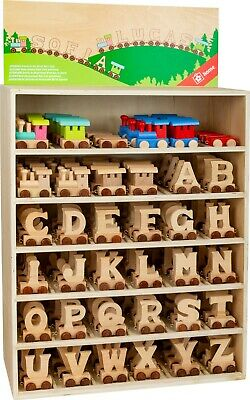Personalised wooden name train  letters personalised name Toy Child Bedroom
