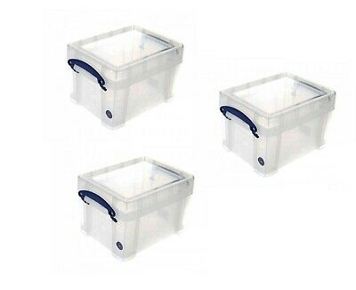 Clear Really Useful 3 x 35 Litre Storage Box Bonus Pack Pack of 3