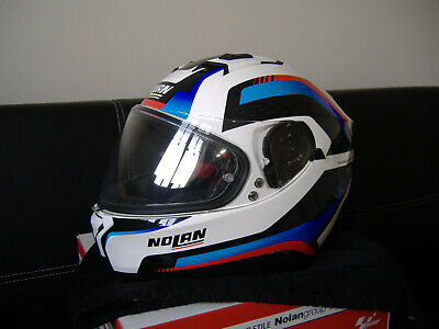 Nolan N87 Arkad helmet in size small 55-56, metal/red/white/blue