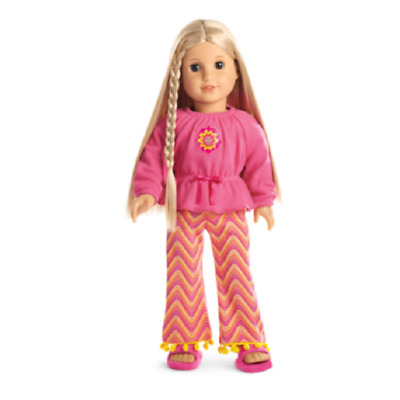 American Girl Doll Julie's Zig Zag Pjs Pajamas NEW!! Retired