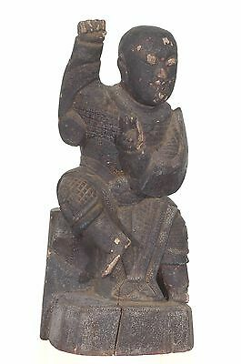 Antique Chinese Wood Carving Statue Figure / General / Warrior, Qing Dynasty,18c