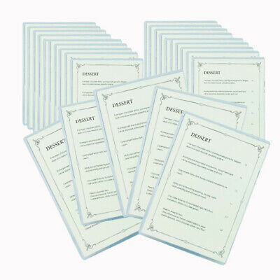 Pack 10 A5 Single Clear Card holders for Cafe Menu