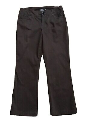 """TRIBAL Womens Size 8 Brown Boot Cut Pants 27.5"""" Inseam"""