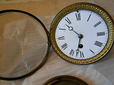 French Clock Movement. Winds up and runs down but sold as spares or repair only