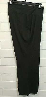 PETITE Woman AVENUE PULL UP PANTS Size 26/28 Gray charcoal color Stretch F/F