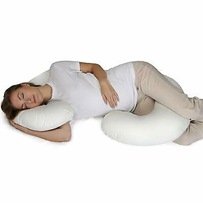 Comfort Therapy C-Shaped Maternity Pillow-Full body pregnancy pillow washable