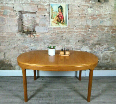 Vintage mid century 1960s 70s NATHAN teak extending dining table retro DELIVERY