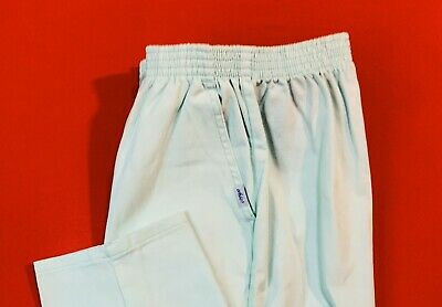 🌷🌷CHIC ... Pull-On  100%  Cotton  Pants ... Green ...  Size  14 🌷🌷