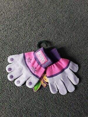 Brand New With Tag girls Dora the explorer, pink/purple winter gloves. Size 3-6.