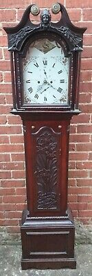 John Peatt,  Crieff, Scotland Carved Oak 8 Day Striking Longcase Clock now sold