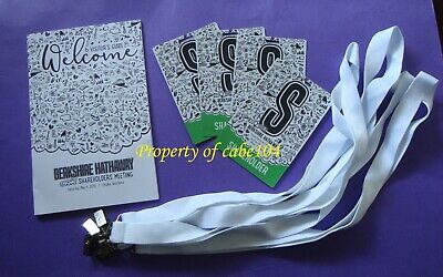Berkshire Hathaway 2019 Collection Item~4 Tickets,4 Lanyards, A Visitor's Guide