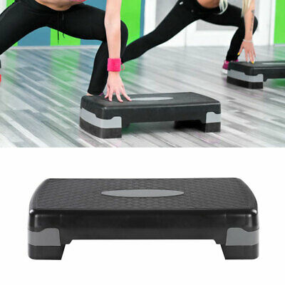 Fitness Aerobic Step 27''in Club Cardio Adjust Exercise Stepper Workout w/Risers