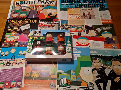 South Park Wind Ups Chef Stan Kyle Cartman Kenny (5) NIB & Clippings Pack 50+
