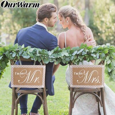 Rustic Wood Wedding Sign Mr /& Mrs Arrow Signs Wedding Party Chair Decors BeautyO