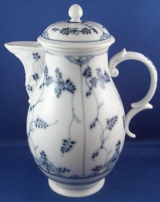 Antique 18thC Fulda Porcelain Strawflowers Coffee Pot Porzellan Kanne German