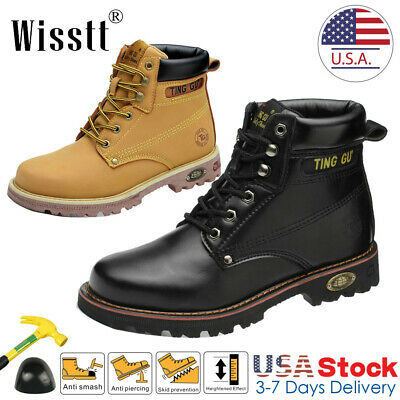 Donnay Mens Safety Boots Work Steel Toe Shoes Kids