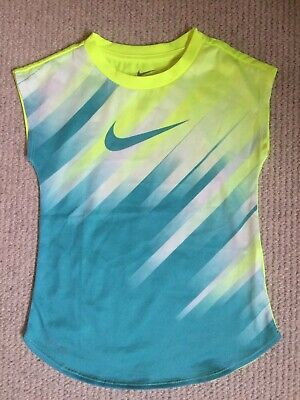 Nike Girls Top, Size 6-7 Years, Green