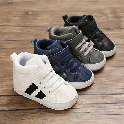 AU Newborn Baby Shoes Toddler Boy Girl Leather Soft Sole Shoes Casual Sneakers