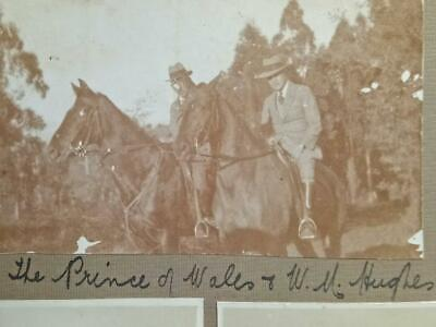 Vintage  Australian PHOTOGRAPHS-Billy Hughes & Prince of Wales 1920 +HMS Renown