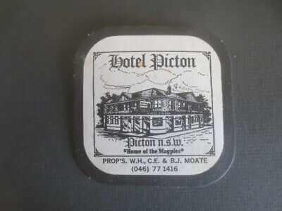 1 only RESCH,s Draught / Hotel Picton Special Issue  COASTER 1980,s