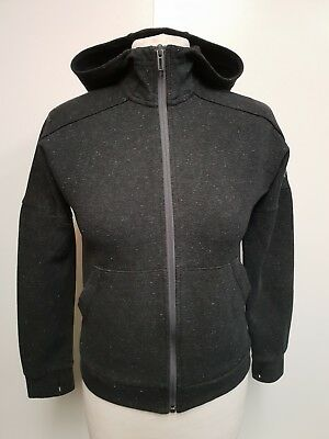 I344 Kids Adidas Grey Speckled Hooded Zip Up Tracksuit Jacket Age 9-10 Years 34""