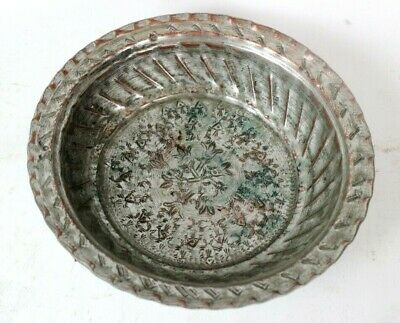 Antique Islamic Hand Hammered Tinned Copper Bowl [6008]