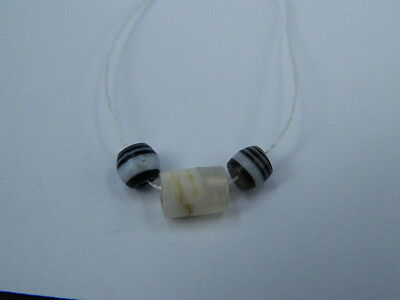 Ancient Agate 3 BeadS Roman 200 BC #BE5010