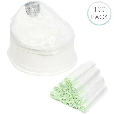 100 x Disposable Travel Potty Liners Portable Training Toilet Seat Leak Proof