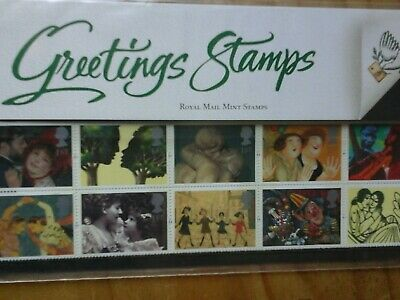 1995 Gb Greetings Stamps Presentation Pack G4 10 X 1St Class Stamps Mnh
