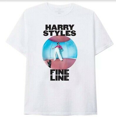 Ladies Harry Styles Fine Line White Tee Shirt Size L BN