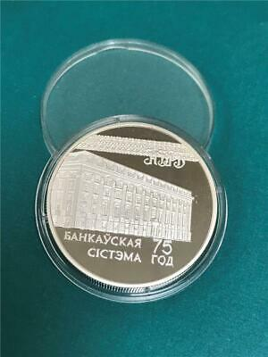 1997 Belarus 75th Anniversary Banking System .999 20 Roubles Proof **SCARCE**