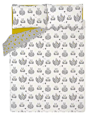 NEW Disney Winnie the Pooh Floral Honeycomb Single or Double or King Duvet Sets