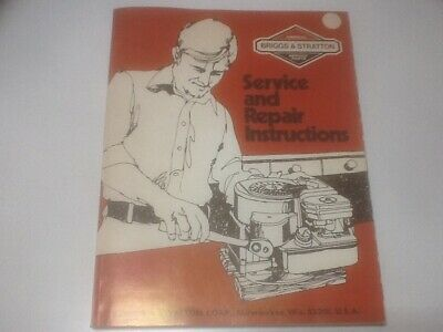 Briggs & Stratton Service and Repair Instructions Manual