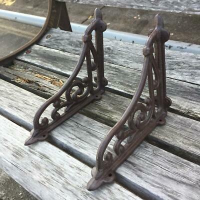 1 Pair Antique Style Cast Iron Brackets Garden Brace Rustic Shelf Bracket Rack