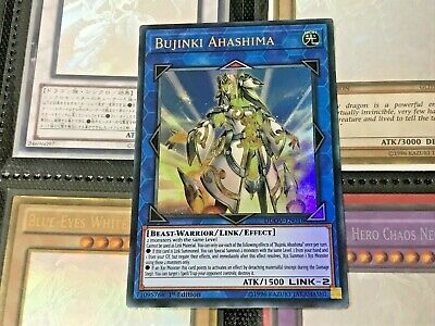YUGIOH CARD: DUOV-EN018 BUJINKI AHASHIMA Ultra Rare 1st Edition PACK FRESH MINT!
