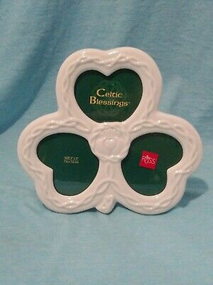 Russ Irish Celtic Blessings Clover Claddagh Picture Frame